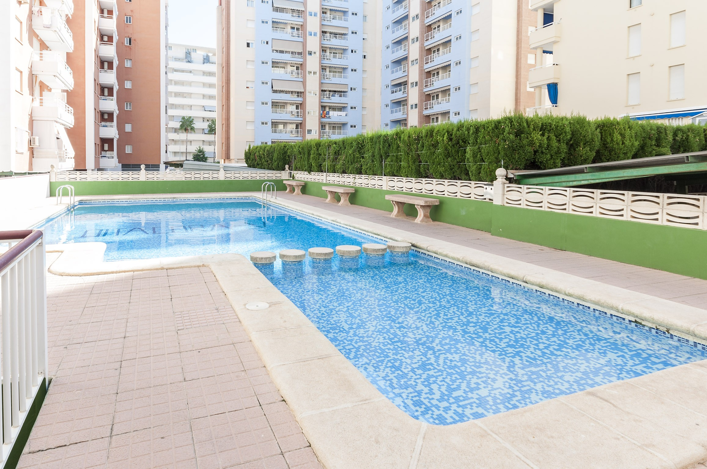 Featuring A Shared Outdoor Pool, This Cozy Apartment In Playa De Gandia Can  Comfortably Accommodate 2   4 People. After A Nice Day On The Beach, ...